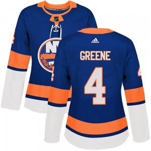 Adidas Andy Greene New York Islanders Women's Authentic ized Royal Home Jersey - Green