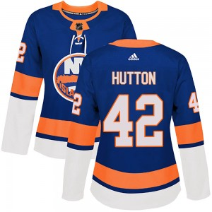 Adidas Grant Hutton New York Islanders Women's Authentic Home Jersey - Royal