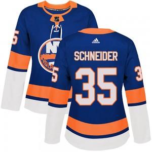 Adidas Cory Schneider New York Islanders Women's Authentic Home Jersey - Royal