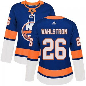 Adidas Oliver Wahlstrom New York Islanders Women's Authentic Royal Home Jersey - Olive
