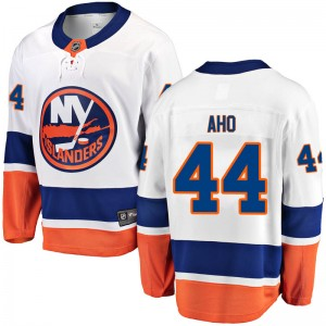 Fanatics Branded Sebastian Aho New York Islanders Youth Breakaway Away Jersey - White