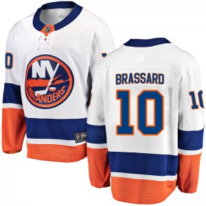 Fanatics Branded Derick Brassard New York Islanders Youth Breakaway Away Jersey - White