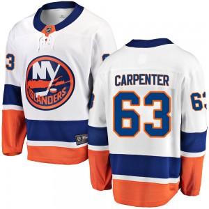 Fanatics Branded Bobo Carpenter New York Islanders Youth Breakaway Away Jersey - White