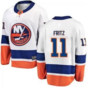 Fanatics Branded Tanner Fritz New York Islanders Youth Breakaway Away Jersey - White