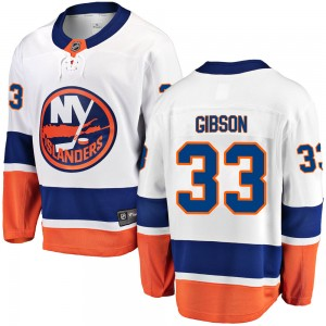 Fanatics Branded Christopher Gibson New York Islanders Youth ized Breakaway Away Jersey - White
