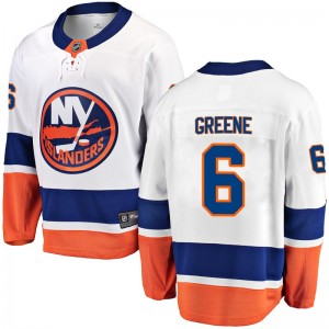 Fanatics Branded Andy Greene New York Islanders Youth Breakaway Away Jersey - White