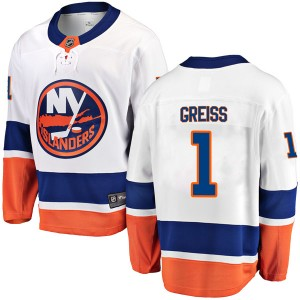 Fanatics Branded Thomas Greiss New York Islanders Youth Breakaway Away Jersey - White