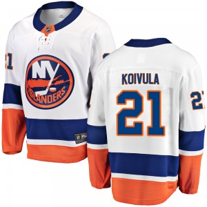 Fanatics Branded Otto Koivula New York Islanders Youth ized Breakaway Away Jersey - White