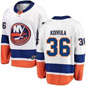 Fanatics Branded Otto Koivula New York Islanders Youth Breakaway Away Jersey - White
