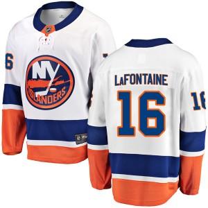Fanatics Branded Pat LaFontaine New York Islanders Youth Breakaway Away Jersey - White