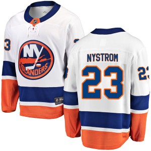 Fanatics Branded Bob Nystrom New York Islanders Youth Breakaway Away Jersey - White