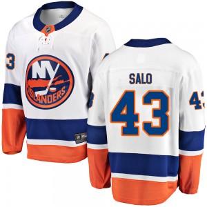 Fanatics Branded Robin Salo New York Islanders Youth Breakaway Away Jersey - White
