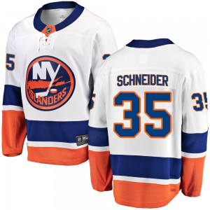 Fanatics Branded Cory Schneider New York Islanders Youth Breakaway Away Jersey - White