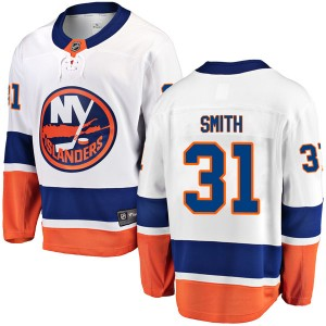 Fanatics Branded Billy Smith New York Islanders Youth Breakaway Away Jersey - White