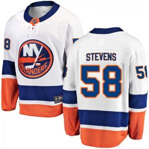 Fanatics Branded John Stevens New York Islanders Youth Breakaway Away Jersey - White