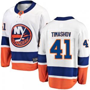 Fanatics Branded Dmytro Timashov New York Islanders Youth Breakaway Away Jersey - White
