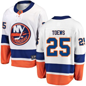 Fanatics Branded Devon Toews New York Islanders Youth Breakaway Away Jersey - White