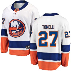 Fanatics Branded John Tonelli New York Islanders Youth Breakaway Away Jersey - White