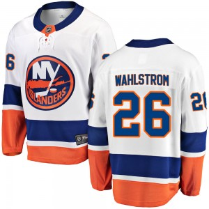 Fanatics Branded Oliver Wahlstrom New York Islanders Youth Breakaway Away Jersey - White