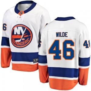 Fanatics Branded Bode Wilde New York Islanders Youth Breakaway Away Jersey - White