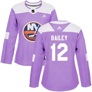 Adidas Josh Bailey New York Islanders Women's Authentic Fights Cancer Practice Jersey - Purple