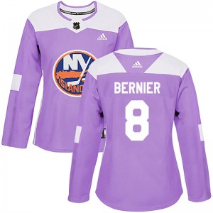 Adidas Steve Bernier New York Islanders Women's Authentic Fights Cancer Practice Jersey - Purple