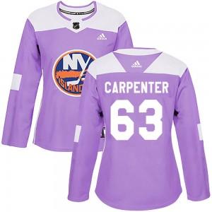 Adidas Bobo Carpenter New York Islanders Women's Authentic Fights Cancer Practice Jersey - Purple