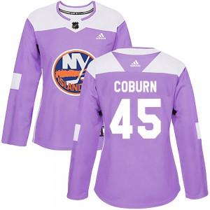 Adidas Braydon Coburn New York Islanders Women's Authentic Fights Cancer Practice Jersey - Purple