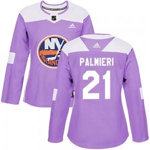 Adidas Kyle Palmieri New York Islanders Women's Authentic Fights Cancer Practice Jersey - Purple