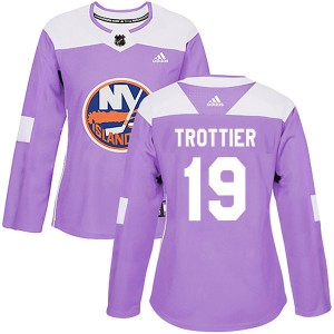 Adidas Bryan Trottier New York Islanders Women's Authentic Fights Cancer Practice Jersey - Purple