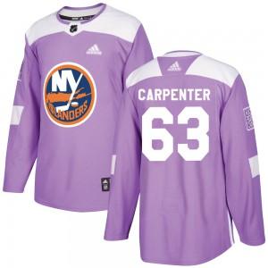 Adidas Bobo Carpenter New York Islanders Men's Authentic Fights Cancer Practice Jersey - Purple
