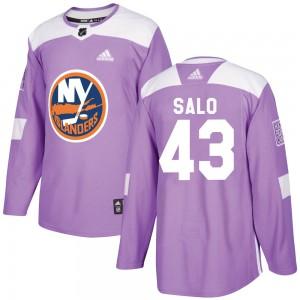 Adidas Robin Salo New York Islanders Men's Authentic Fights Cancer Practice Jersey - Purple