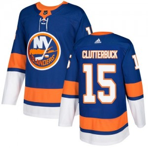 Adidas Cal Clutterbuck New York Islanders Youth Authentic Home Jersey - Royal Blue