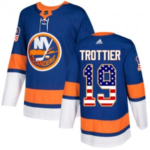 Adidas Bryan Trottier New York Islanders Youth Authentic USA Flag Fashion Jersey - Royal Blue