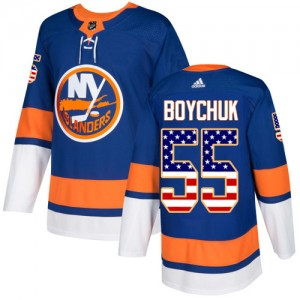 Adidas Johnny Boychuk New York Islanders Youth Authentic USA Flag Fashion Jersey - Royal Blue