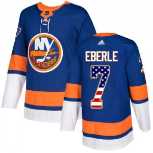 Adidas Jordan Eberle New York Islanders Youth Authentic USA Flag Fashion Jersey - Royal Blue