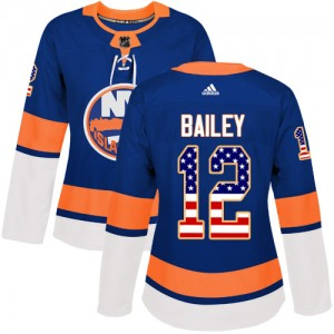 Adidas Josh Bailey New York Islanders Women's Authentic USA Flag Fashion Jersey - Royal Blue