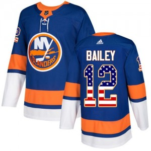 Adidas Josh Bailey New York Islanders Youth Authentic USA Flag Fashion Jersey - Royal Blue