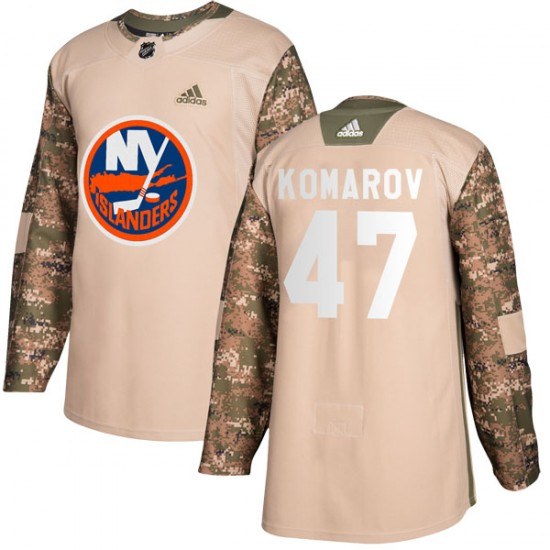 Adidas Leo Komarov New York Islanders Youth Authentic Veterans Day Practice Jersey - Camo