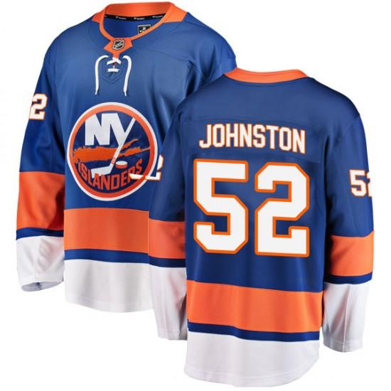 Fanatics Branded Ross Johnston New York Islanders Youth Breakaway Home Jersey - Blue