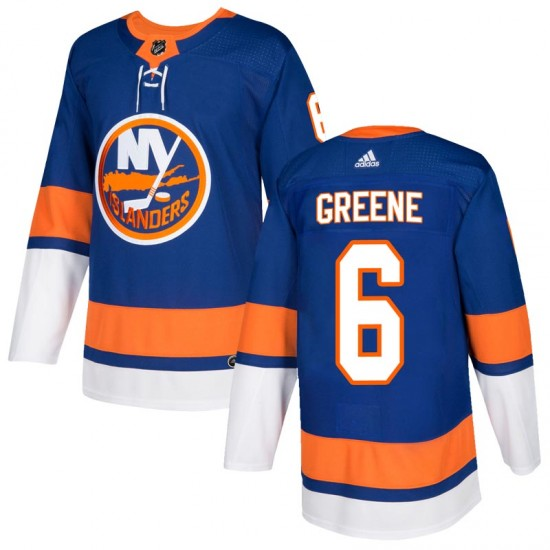 Adidas Andy Greene New York Islanders Youth Authentic Royal Home Jersey - Green