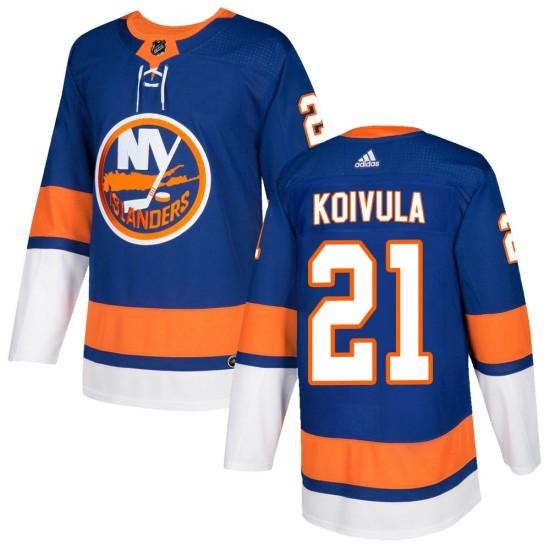 Adidas Otto Koivula New York Islanders Youth Authentic ized Home Jersey - Royal