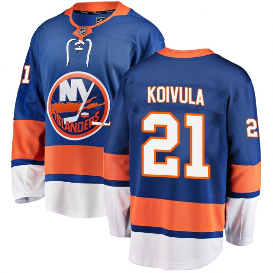 Fanatics Branded Otto Koivula New York Islanders Men's ized Breakaway Home Jersey - Blue