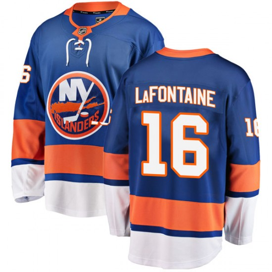 Fanatics Branded Pat LaFontaine New York Islanders Men's Breakaway Home Jersey - Blue