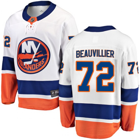 6992a1a5c Fanatics Branded Anthony Beauvillier New York Islanders Men s Breakaway  Away Jersey - White