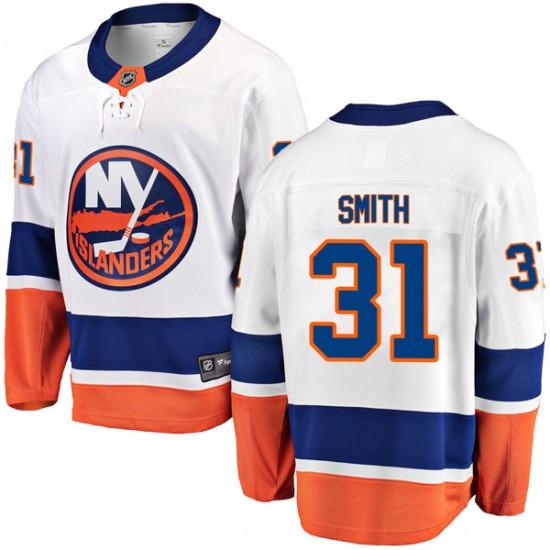 Fanatics Branded Billy Smith New York Islanders Men's Breakaway Away Jersey - White