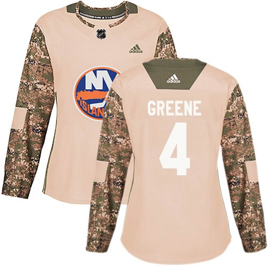 Adidas Andy Greene New York Islanders Women's Authentic ized Camo Veterans Day Practice Jersey - Green