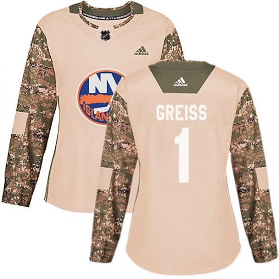 Adidas Thomas Greiss New York Islanders Women's Authentic Veterans Day Practice Jersey - Camo