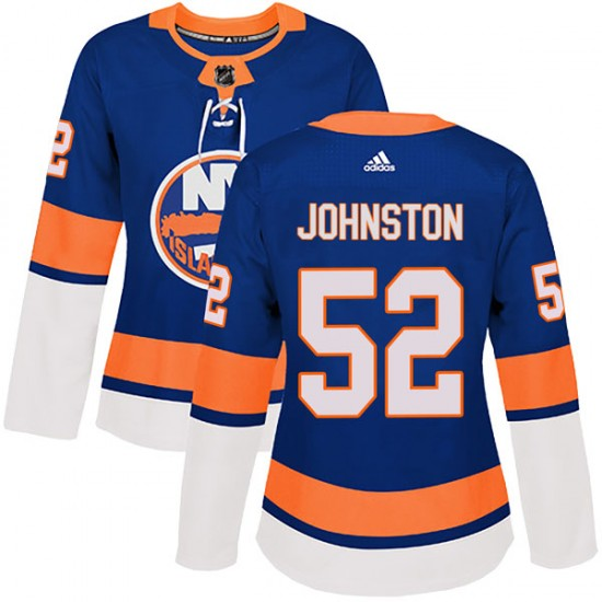 Adidas Ross Johnston New York Islanders Women's Authentic Home Jersey - Royal