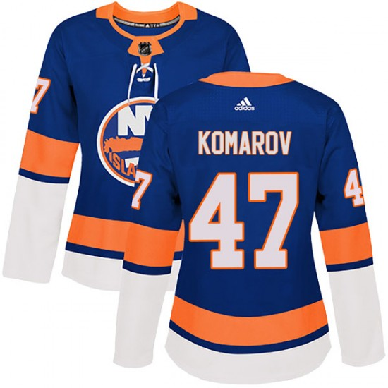 Adidas Leo Komarov New York Islanders Women's Authentic Home Jersey - Royal